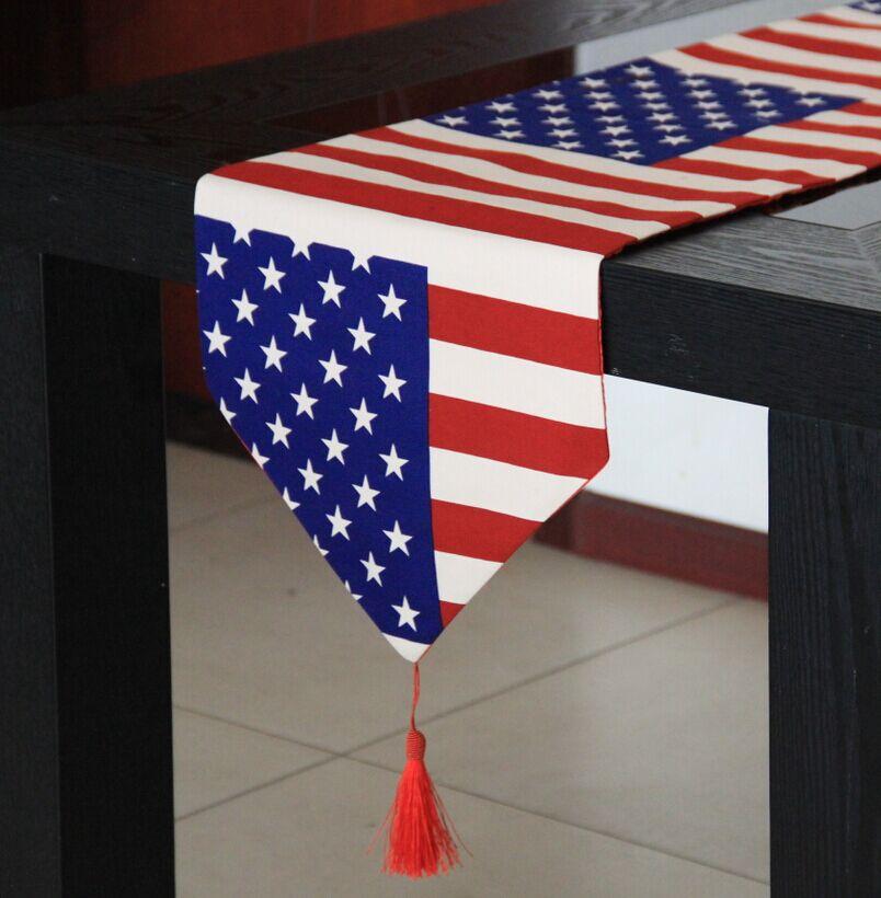 包郵美國國旗餐桌桌旗米字旗英國旗桌布酒店床尾巾禮臺吧檯裝飾布