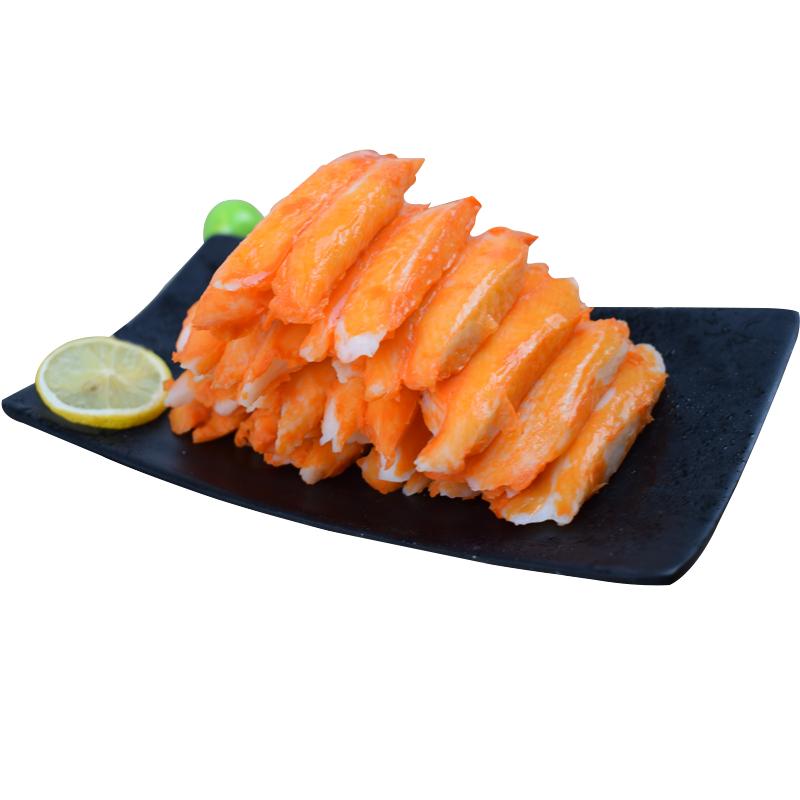 力二味进口泰国蟹柳松叶蟹腿肉纪文蟹柳蟹肉棒500g寿司火