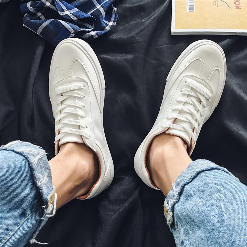 男鞋2021年夏百搭小白鞋男士休闲白色板鞋ins情侣帆布鞋子男潮鞋 No.3
