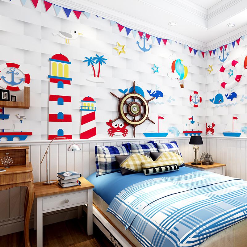 米素世界地图墙纸壁画定制儿童房卧室背景墙无缝壁纸壁画环游旅行