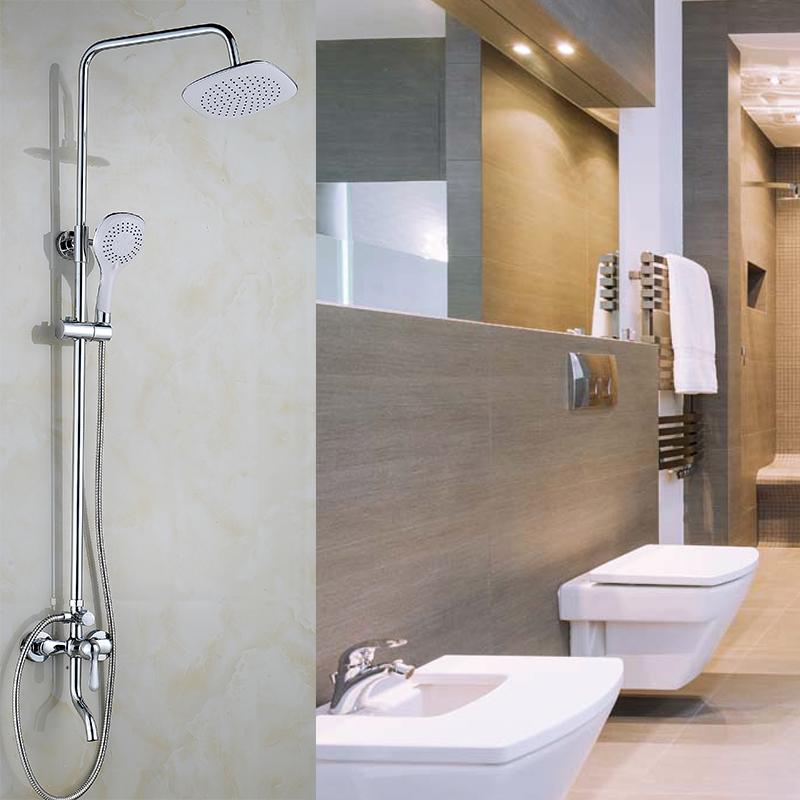 淋浴花洒套装家用全铜浴室黑色喷头沐浴卫生间淋浴器配件洗澡神器