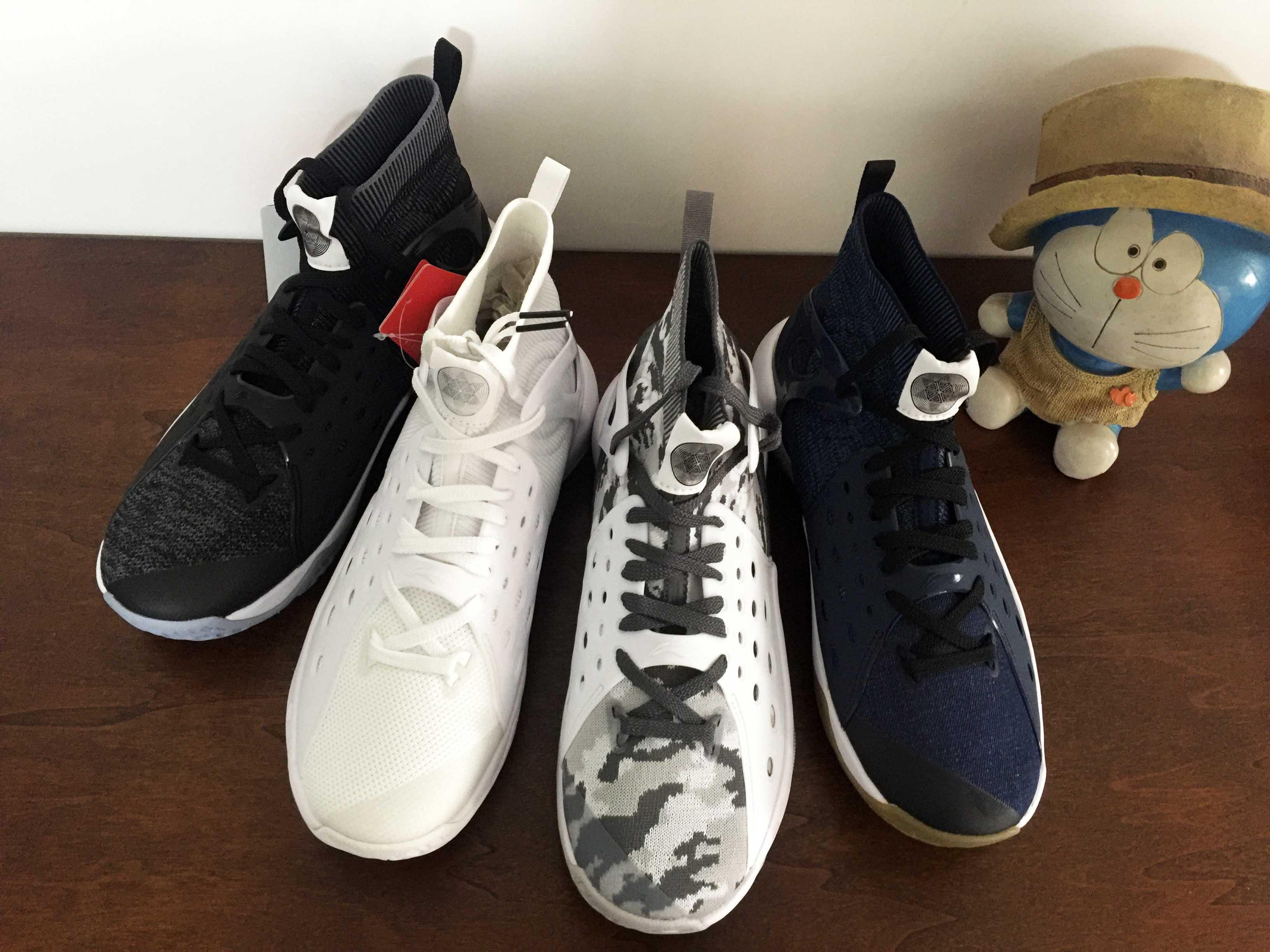 正品李宁音速6减震耐磨一体袜套高低帮篮球鞋ABAN021/ABAN053现货