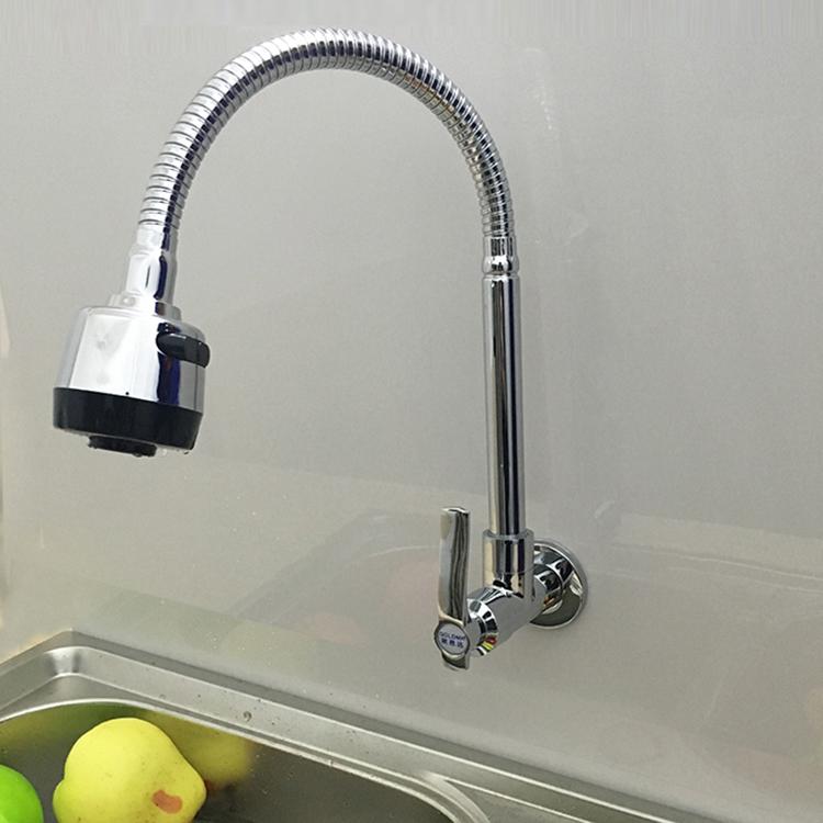 单冷厨房水槽水盆洗菜盆龙头全铜万向管入墙式水龙头拖把池包邮