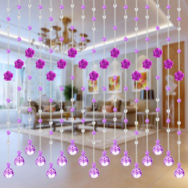 促销珠帘散珠紫色32切面珠菠萝珠diy手工材料隔断帘水晶玻璃珠子