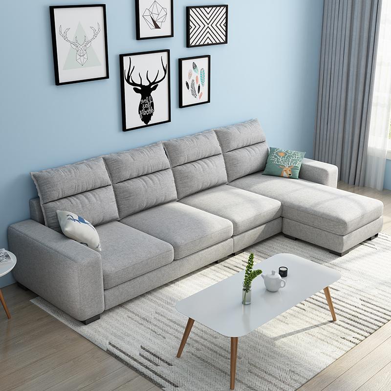 直排整装布艺沙发客厅