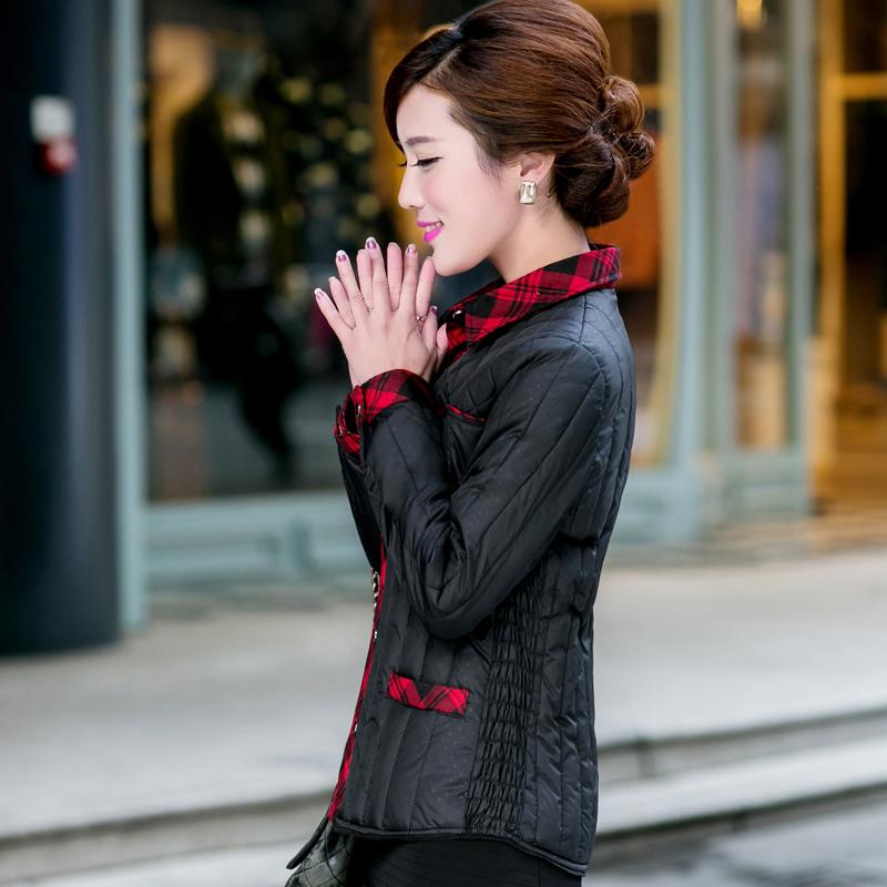 2020新款大码韩版羽绒棉内胆羽绒服中老年女装棉衣棉服妈妈装外套主图