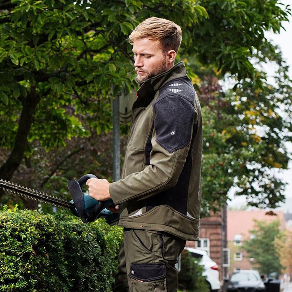 耐磨加绒软壳冲锋衣夹克男 CORDURA 丹麦工装北欧户外防风抗污保暖