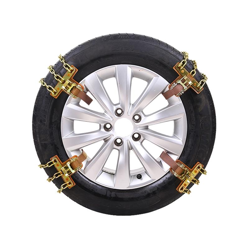 suv 自动收紧铁链汽车轮胎通用型雪地防滑链条小轿车面包越野皮卡