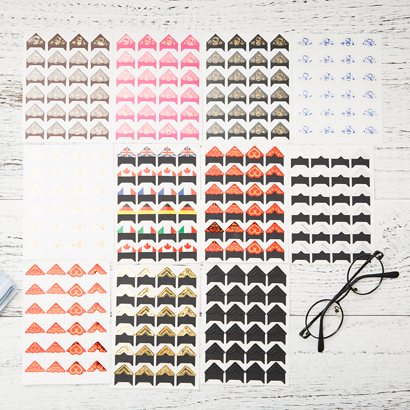 韩国diy照片角贴 相片相册本工具材料装饰手工贴纸角边贴边角自粘