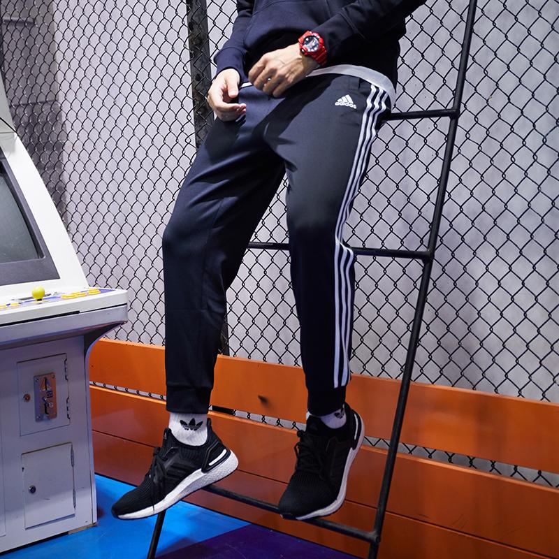阿迪达斯新款男运动裤收口休闲针织长裤 跑步宽松束脚
