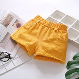 Girls denim shorts 2020 new foreign style wear girls hot pants white children's pants thin summer Korean version