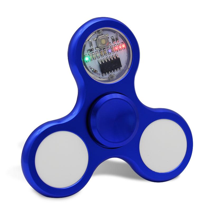 新款LED炫彩灯指尖陀螺成人发光 金属手指陀螺指尖陀螺玩具儿童