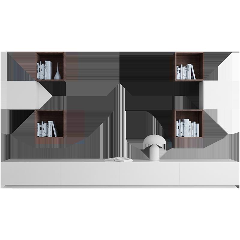 电视柜现代简约客厅背景墙组合家具北欧小户型茶几电视柜组合套装