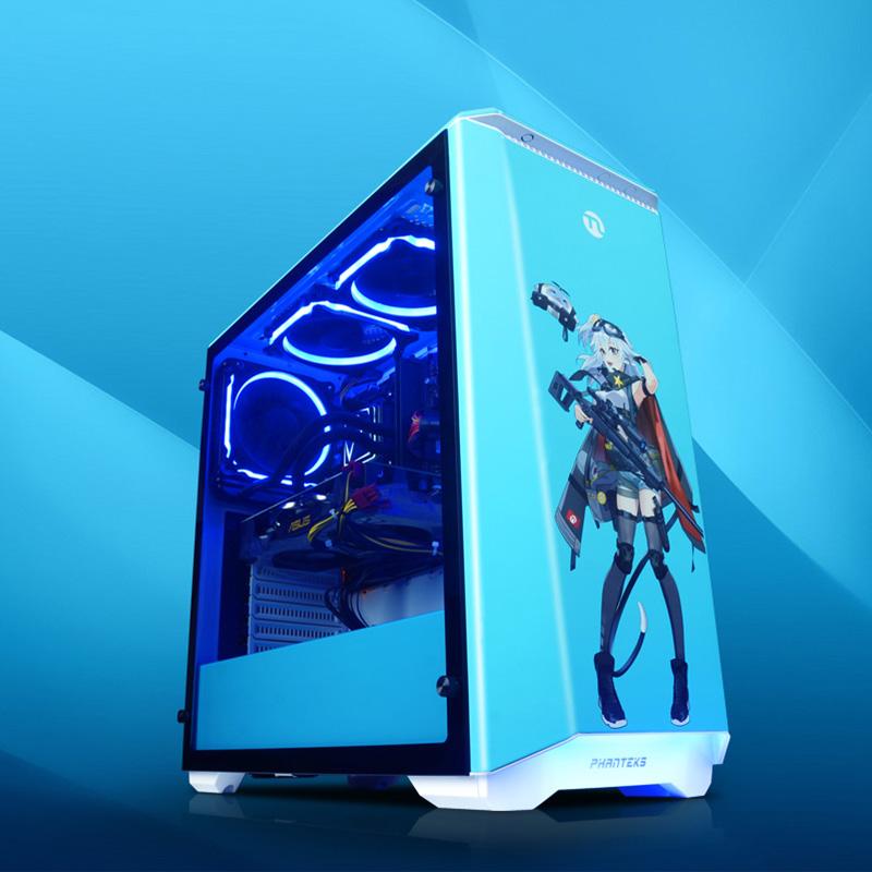 高配宁晓美蓝 diy 吃鸡高端游戏电脑主机全套整机 DIY 水冷台式组装机 RTX2060 9700F i7 宁美国度 预售 11 双