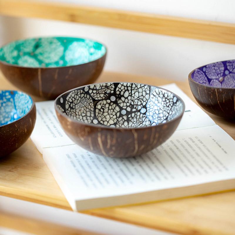 越南特色饰品椰子壳碗装饰碗摆件放钥匙的碗客厅玄关钥匙碗收纳碗