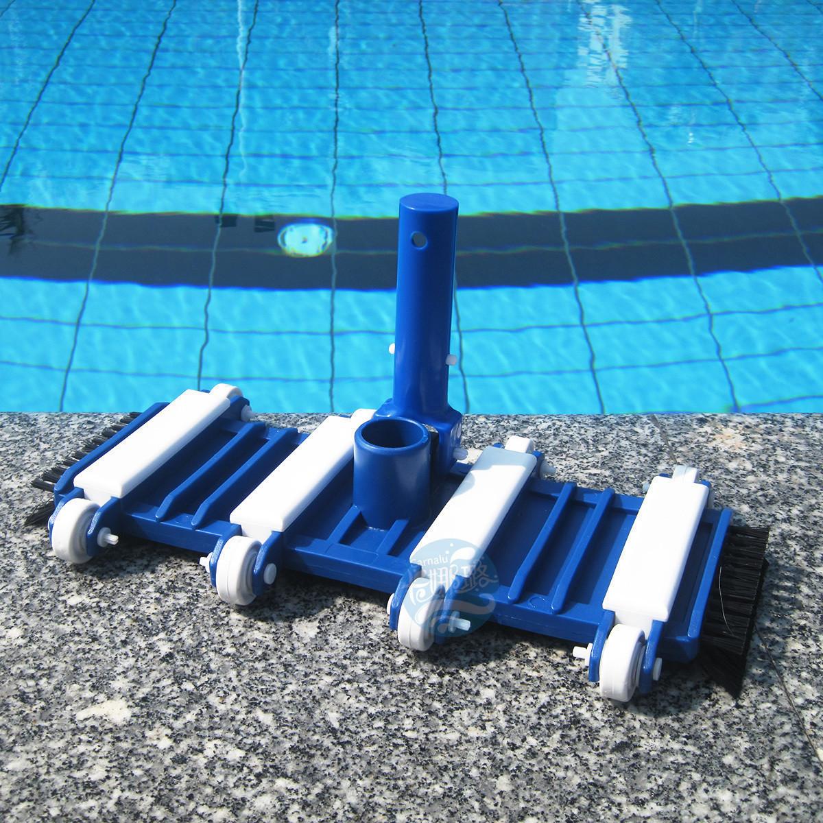 游泳池吸污头吸污机水下吸尘器鱼池清洁设备14寸底部带毛刷吸污头