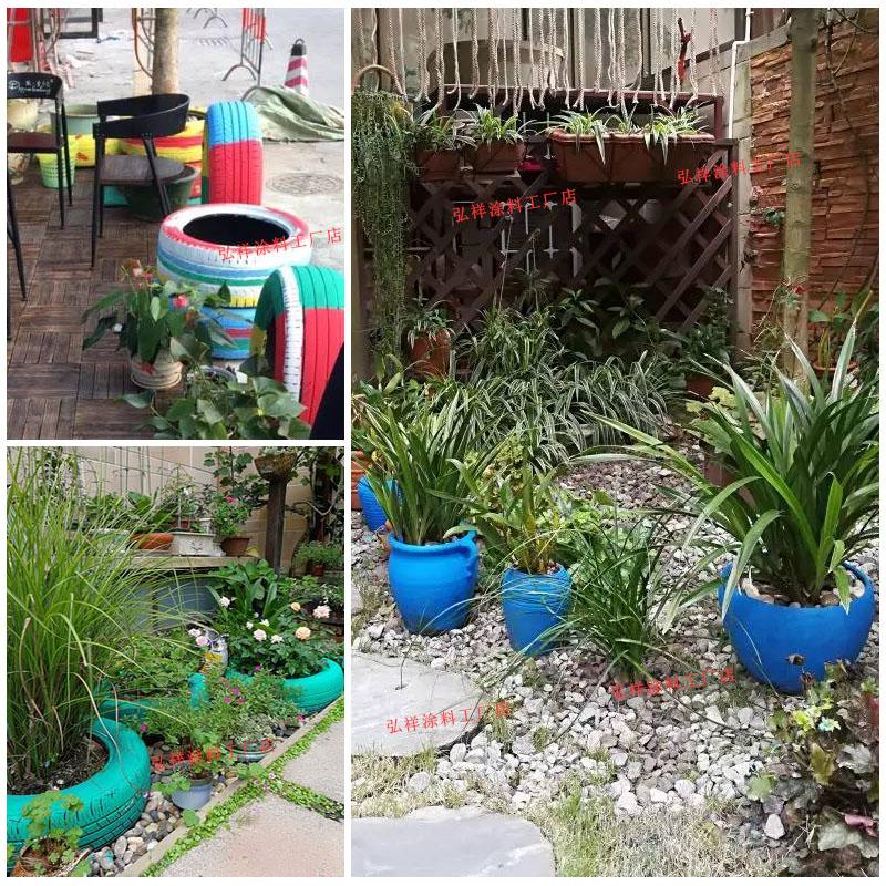 幼儿园轮胎彩绘漆 彩绘油漆 丙烯颜料手绘花盆外墙乳胶漆防水涂料