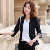 Women workers fashion outfit spring and summer of 2020, popular temperament wild short paragraph suit jacket female