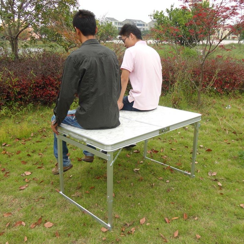 广告宣传桌铝合金野餐桌 便携展业桌夜市摆摊桌 包邮户外折叠桌椅