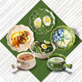 Wave point bowl Nordic plate Japanese-style dishes simple couple ceramic tableware set home cute good-looking bowl sashimi