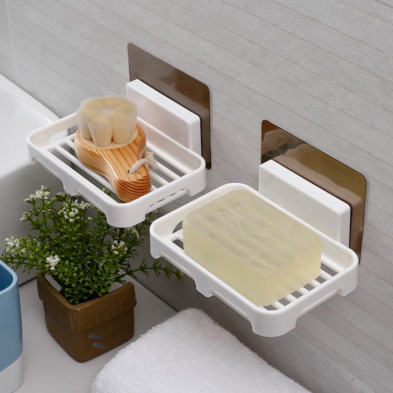 卫生间肥皂盒香皂架免打孔创意吸盘放香皂盒浴室沥水壁挂式肥皂架