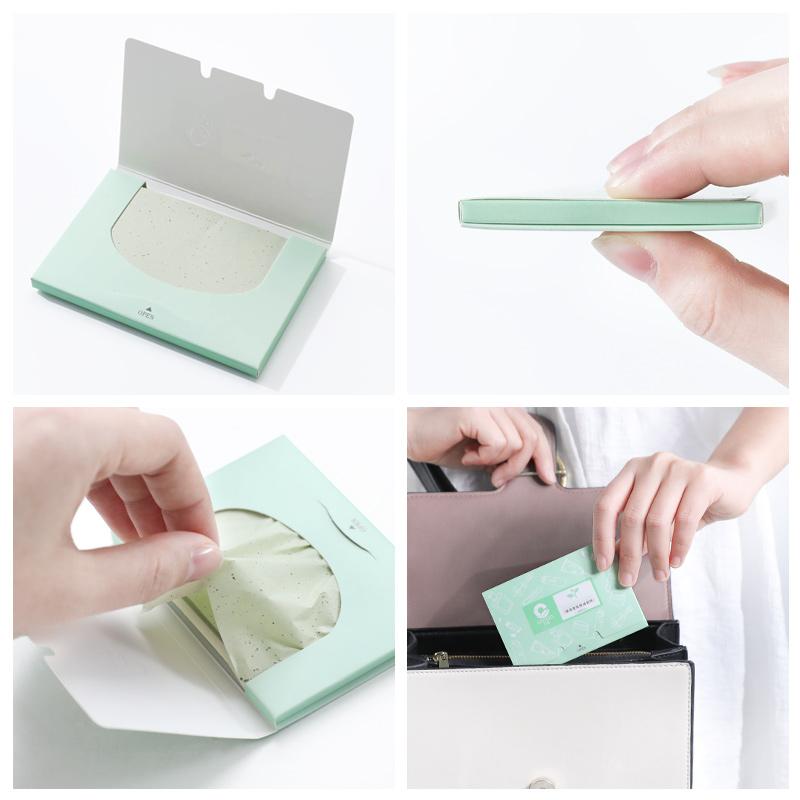 【200张】吸油面纸便携夏季绿茶竹炭控油男女士面部吸油纸去油纸