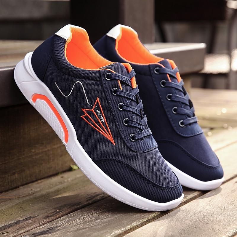 夏秋季男鞋子男士新款休闲鞋板鞋透气帆布阿甘潮流新款运动鞋跑步