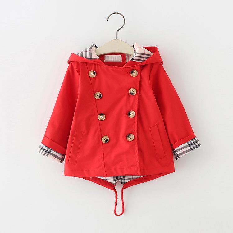 1-8岁女童春装2外套3女宝2019新款4春季5上衣6小童女孩儿童风衣