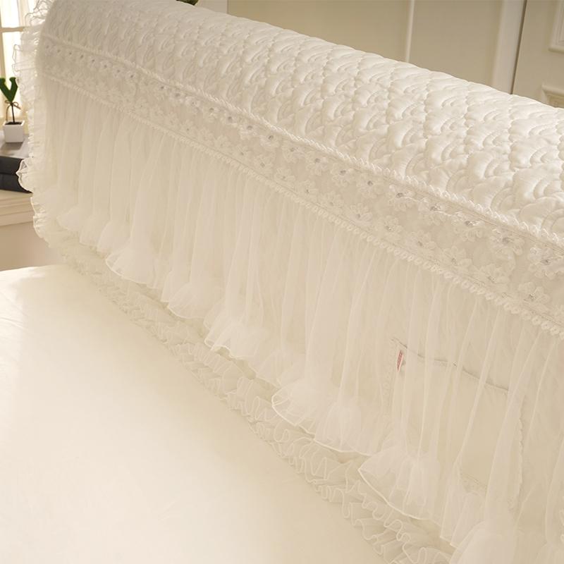 好梦连连公主风床头罩布艺皮床保护套蕾丝防尘罩床头套1.8m床简约