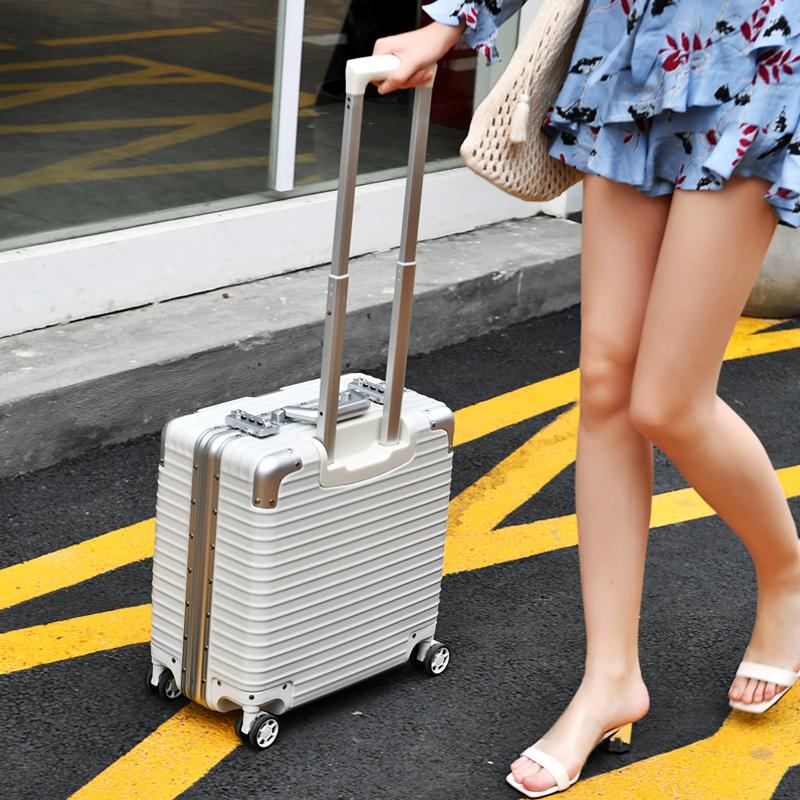 18寸拉桿箱多功能小箱電腦箱行李箱空姐機長箱密碼登機箱17寸男女