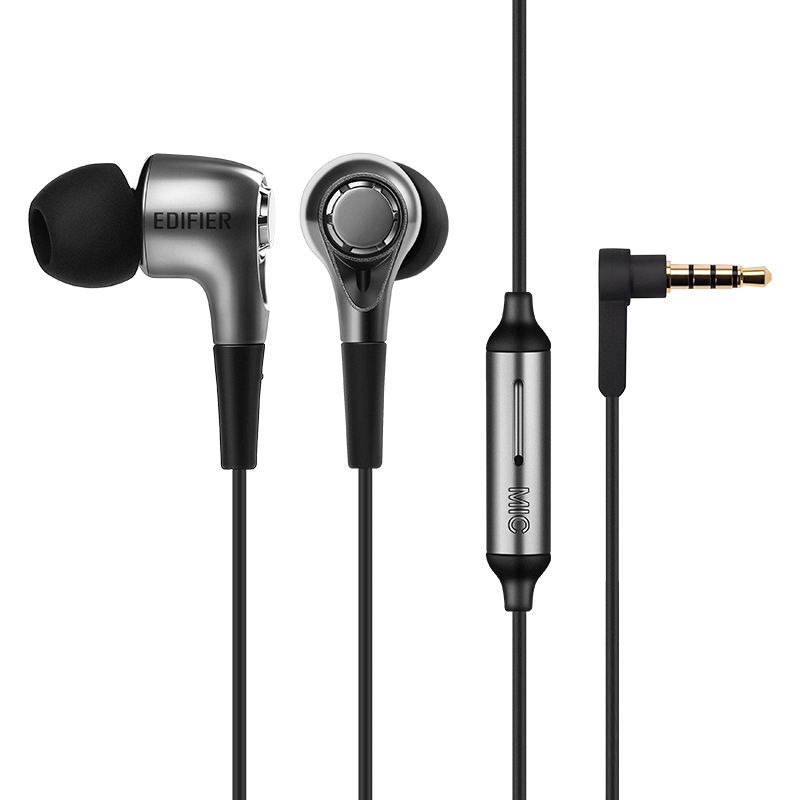 Edifier/漫步者 H230P手机耳机入耳式重低音炮通用有线控耳塞带麦男女音乐苹果安卓笔记本电脑吃鸡耳麦高音质