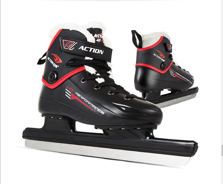 动感爆款冰刀鞋 男女成人专业儿童初学钢刀保暖球刀鞋 速滑滑冰鞋