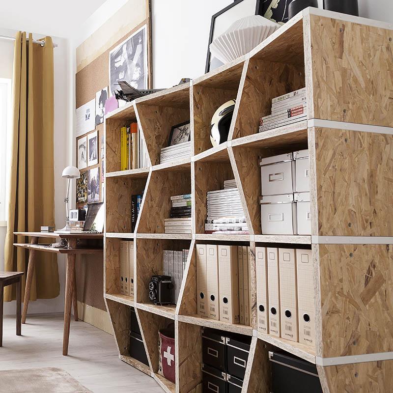 【厭式房間】wave書架 創意傢俱自由組合多格鋼木收納置物層架