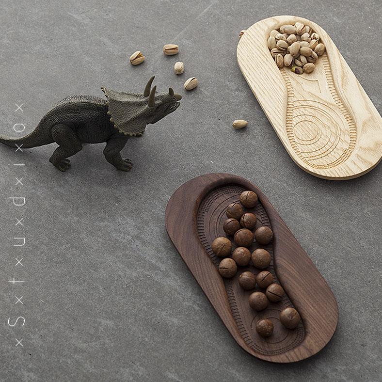 【厌式房间】原创设计 实木摆件 创意礼品 然并卵小鞋印木盘 包邮