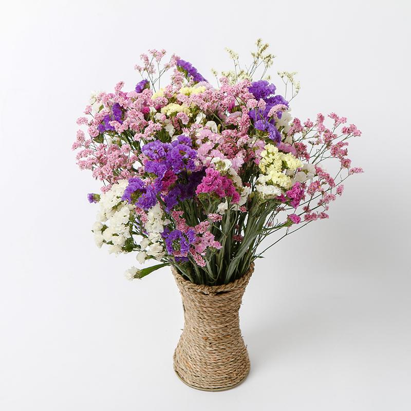 白色满天星干花装饰大花束带花瓶家居摆设小清新客厅插花网红摆件