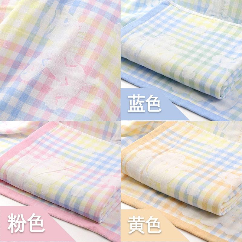婴儿大浴巾纯棉纱布新生儿超柔宝宝洗澡薄款不掉毛毛巾被方形盖毯