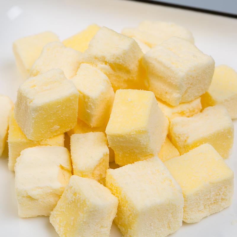 日本进口休闲零食牛奶乳酪美瑛优果奶酥生牛乳奶酥牛奶小方酥原味
