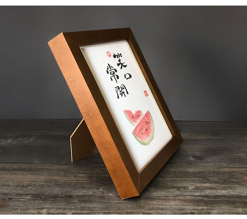 桌面摆件个性趣味书法文字定制办公桌书中摆台案头座右铭文艺礼品