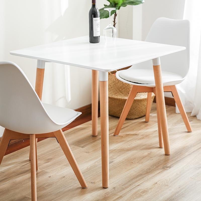 宜家北欧实木餐桌伊姆斯现代简约家用小户型饭桌长方形餐桌椅组合