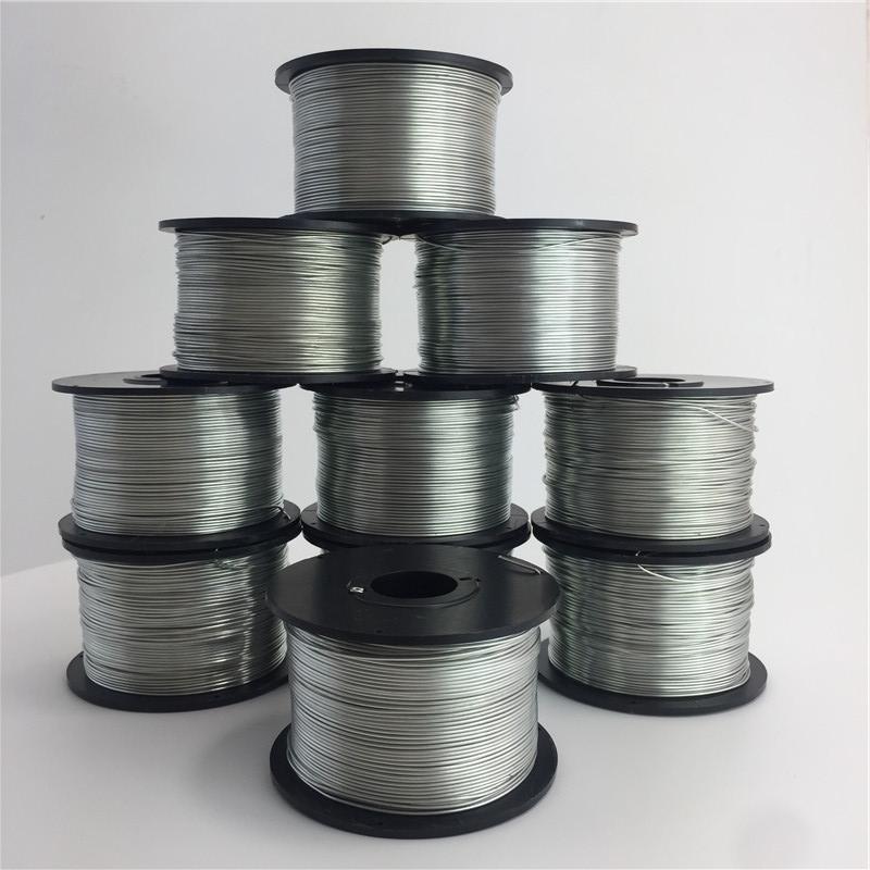 光缆附挂机通用铁丝扎丝镀锌绝缘铁丝包塑丝捆扎机厂家直