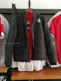 Spot Manchester United official website genuine Manchester United cotton jacket plus velvet warm jacket black men's S size