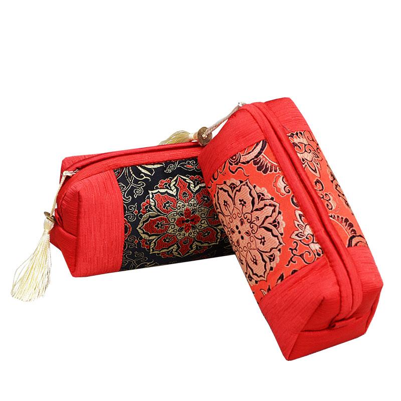 中国民族风元素刺绣南京云锦小钱包外事出国特色纪念小礼品送老外