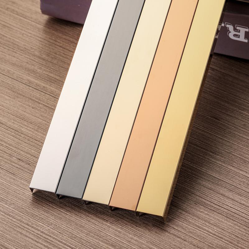 型 t 型槽钛合金收边条 u 黑钛金不锈钢装饰线条金属背景墙吊顶嵌入式
