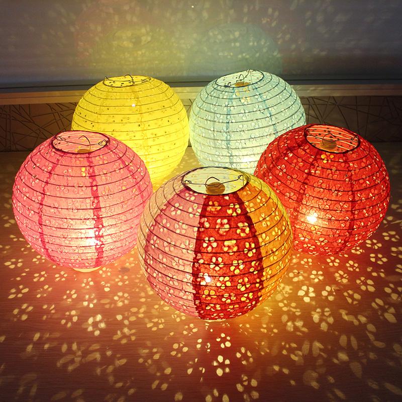 儿童手提发光七彩灯笼礼物道具