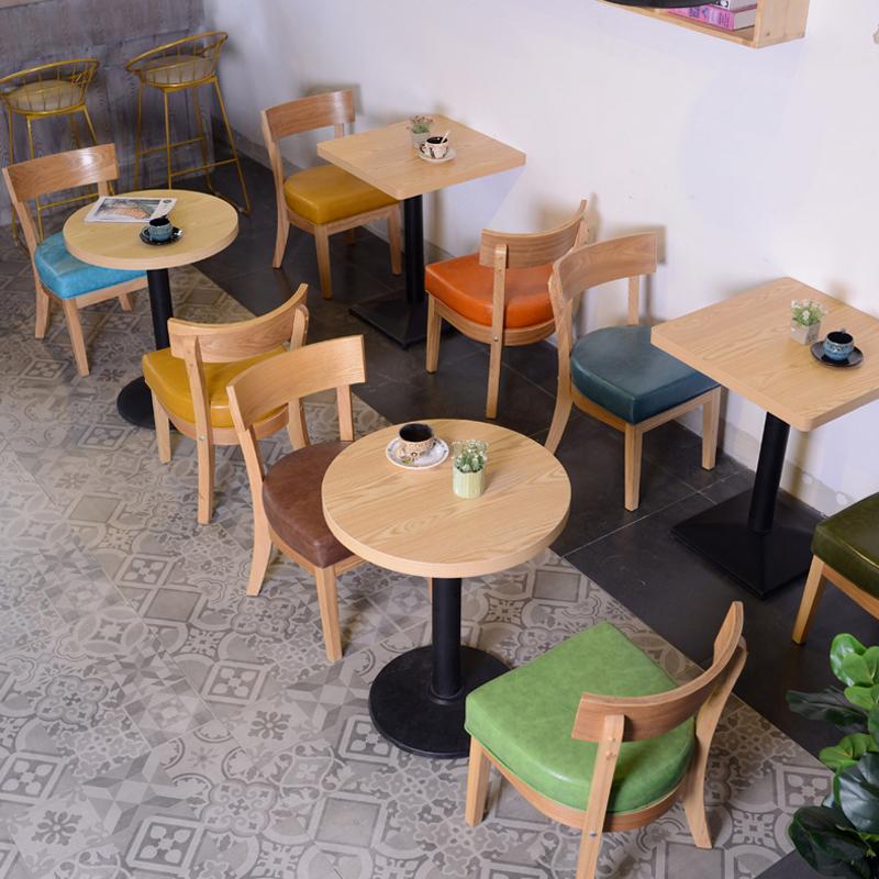 馆西餐咖啡厅桌椅组合