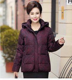 新款中老年人羽绒服女宽松短款加厚大码妈妈奶奶装60-70-80岁外套