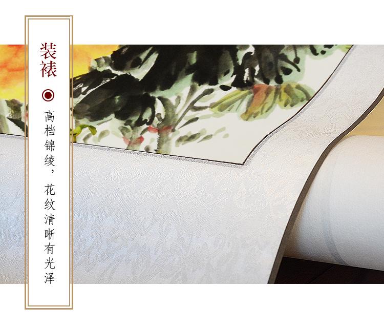 荷花純手繪國畫荷塘客廳臥室酒樓餐廳走廊花鳥水墨畫真跡斗方畫框