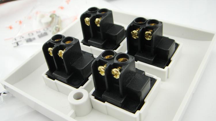 包邮松易四开电源开关面板4位开关插座面板墙壁开关单控开关86型