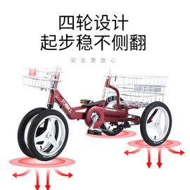 上海永久人力三轮车老人脚蹬拉货代步脚踏老年成人载货轻便自行车