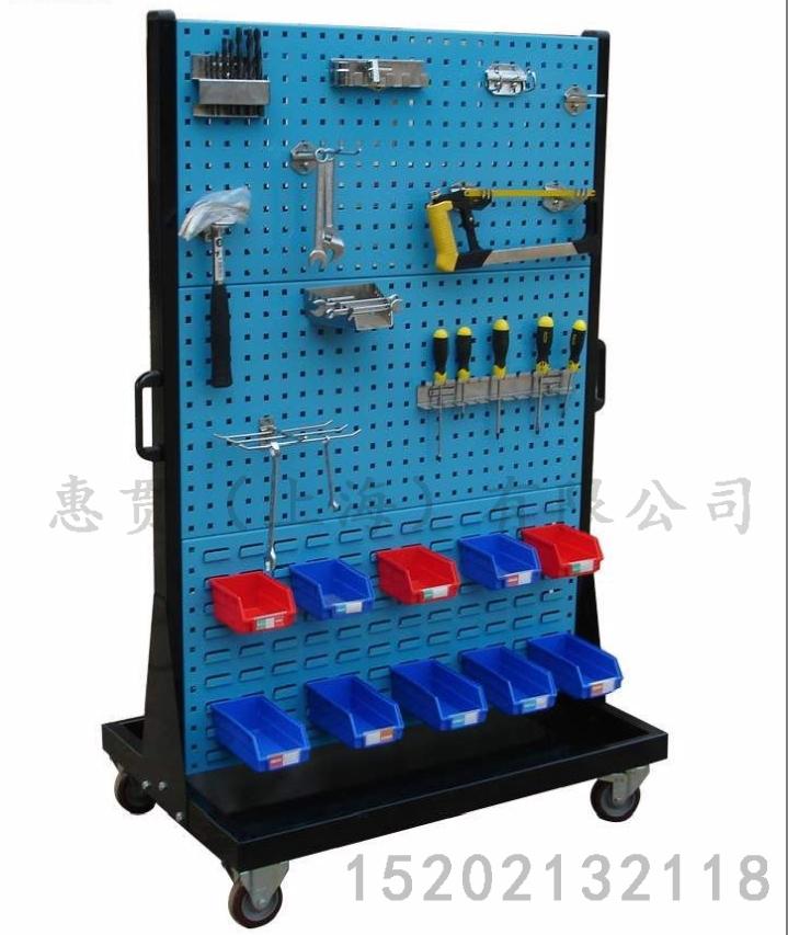 加厚五金工具架方孔挂板挂钩置物架汽保展示整理架车间移动物料架